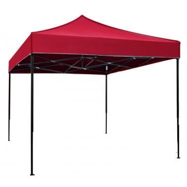 Метална шатра сгъваема 3x3м - червена (C33A-RED) - Horecano