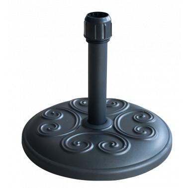 Стойка за чадър 12кг кръг черна  с релеф (FTH12-B) - Horecano