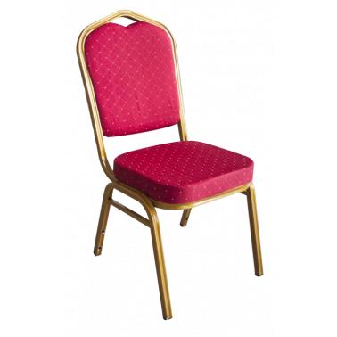 Метален стол за кетъринг  с червена седалка 45x51xh92см (BC-065) - Horecano