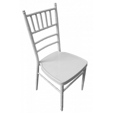 Метален стол за кетъринг бял (А 03W)(39x41x92см) - Horecano