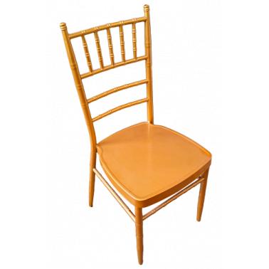 Метален стол  за  кетъринг  златист  (А 03G)(39x41x92см) - Horecano