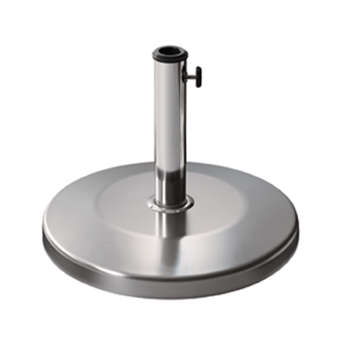 Стойка за чадър 25кг  кръг хромникел (SSTH-25R) - Horecano