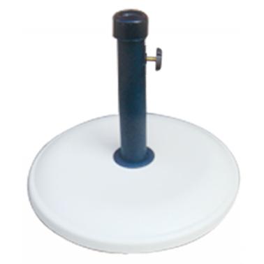 Стойка за чадър 12кг  кръг бяла (NTH12-W) - Horecano