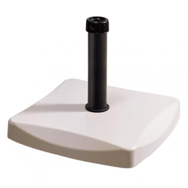 Стойка за чадър 25кг  квадрат бяла (CTH25-W) - Horecano