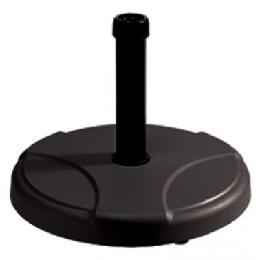 Стойка за чадър 25кг  кръг черна (RTH25-B) - Horecano