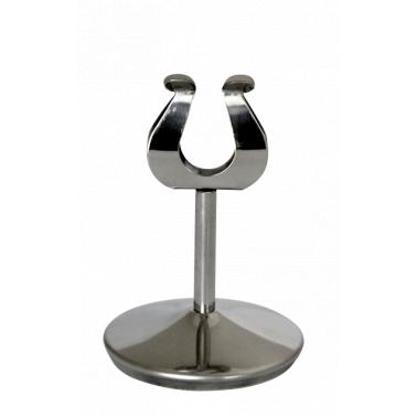Иноксова стойка за информационна табелка за блок маса с клипс 10см (409310) - Horecano