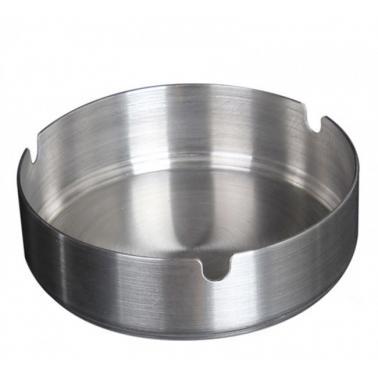 Иноксов пепелник   кръгъл  ф12см  стекабъл  (508112) - Horecano