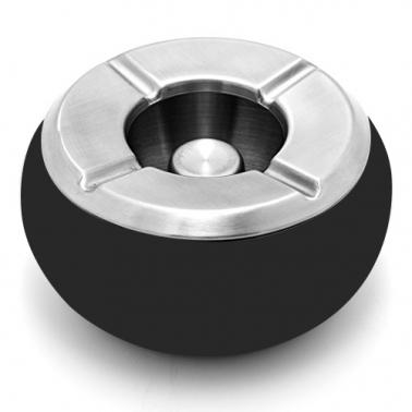 Иноксов пепелник  ветроустойчив  сфера ф10см черен  (508131) - Horecano