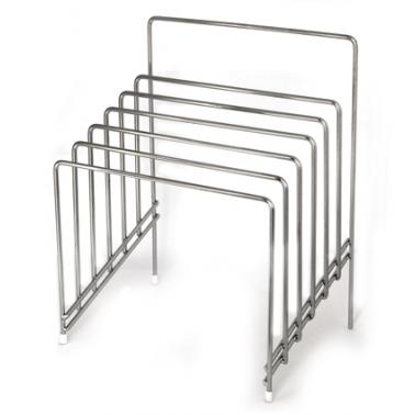 Иноксова стойка квадратна  за дъски 29,5x21,5x37,5см (608359) - Horecano