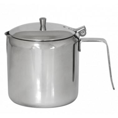 Иноксова каничка с капак за чай 750мл (800107) - Horecano