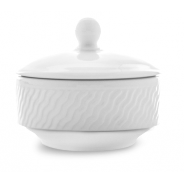 Порцеланова захарница  с капаче ф10см 160мл  PANAMA (PAN 10 KJ1)ГП  - Gural Porselen