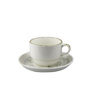 Порцеланова чашка с чинийка 90мл ГП-REACTIVE-(GBSEO02EK99TPK39)- Gural Porselen