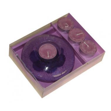 Комплект свещник с 4бр свещички  R-GWS 1613040 - Horecano