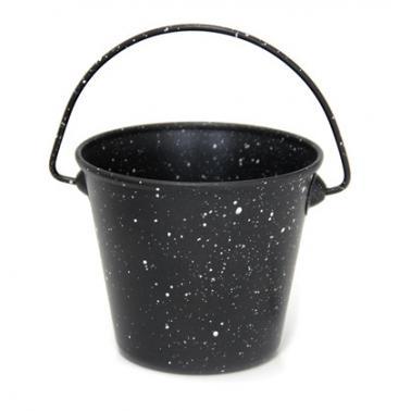 Мини кофичка за сервиране с незалепващо мраморно покритие 10,7 x 9,1см  450мл черна (SG-70347(C)) - Horecano