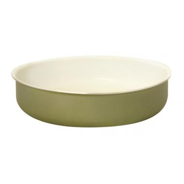 Алуминиева тава с керамично покритие кръгла 32xh5,5см зелена TANGO-(HX-10.32GR)- Horecano