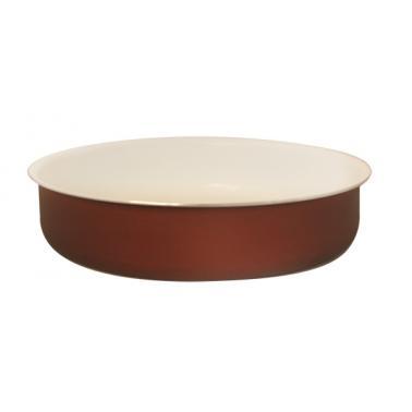 Алуминиева тава с керамично покритие кръгла 32xh5,5см кафява TANGO-(HX-10.32BR)- Horecano