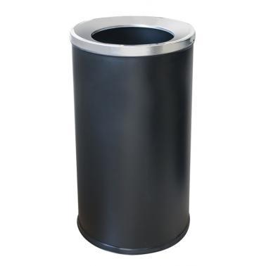 Кош за отпадъци черен 35x35x73см G-(89007-002-B) - Horecano