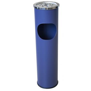 Метален екстериорен пепелник  15x15x54cм.,8л. син G-(11723-001-B) - Horecano