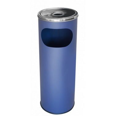Метален екстериорен пепелник  20,5x20,5x58cм., 12л. син G-(11251-001-B) - Horecano
