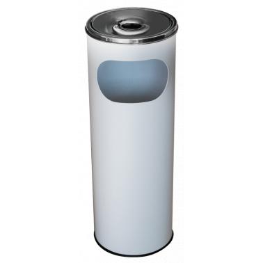 Метален екстериорен пепелник 20,5x20,5x58cм.,12л. бял G-(11251-001-W) - Horecano