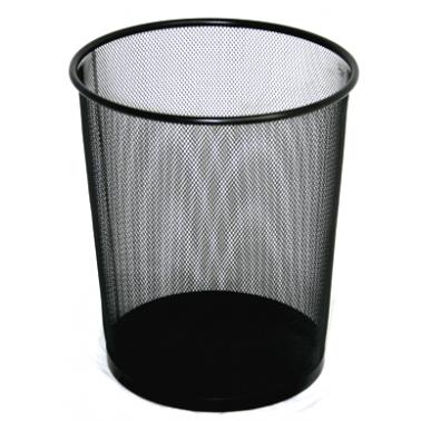 Метален кош, канцеларски,  кръг черен 23,2x23,2x35,5cм. 22л. G-(92544-001-B) - Horecano