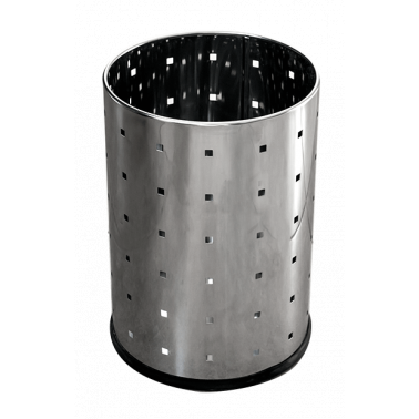 Иноксов кош, канцеларски 16,8x16,8x23,5cм. 3л. G-(90979-002) - Horecano
