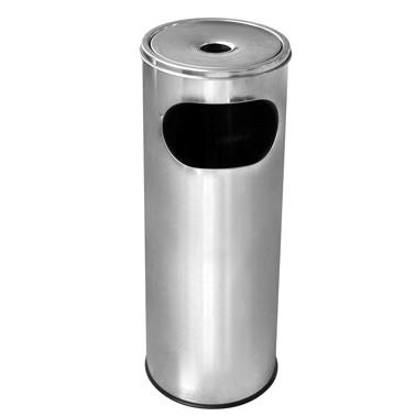 Иноксов пепелник 20,5x20,5x58cм., 12л. G-(11251-001) - Horecano
