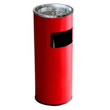 Метален екстериорен пепелник  25x25x60cм.,18л. червен G-(90726-005-R) - Horecano