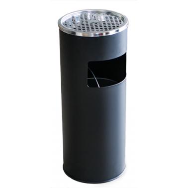 Метален екстериорен пепелник  25x25x60cм.,18л. черен G-(90726-005-B) - Horecano