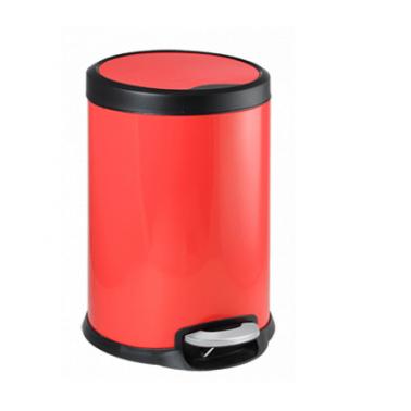 Кош с педал 22x22x28,5cм 5л  червен FANTASY G-(90985-003-R) - Horecano