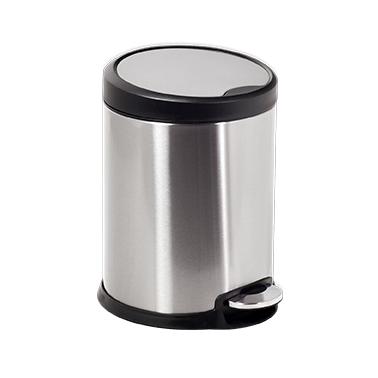 Иноксов кош с педал с черен кант 27x27x39,5cм 12л G-(11606-003) - Horecano