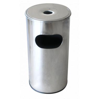 Иноксов пепелник без решетка 29,5x29,5x60,5cм. 30л. G-(11252-001) - Horecano
