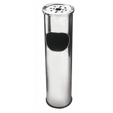 Иноксов екстериорен пепелник 15x15x54cм. - 8л. G-(11723-003) - Horecano