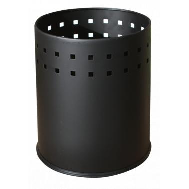 Метален кош, канцеларски, черен 5л. G-(11190) - Horecano