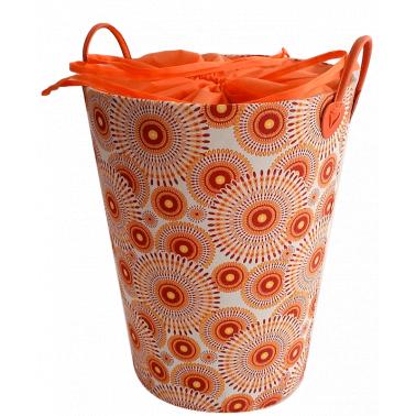 Текстилен кош за дрехи кръг оранжево/червено - полиестер HD-(P1SM070F) - Horecano