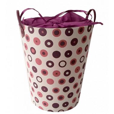 Текстилен кош за дрехи кръг розово/лилаво - полиестер HD-(P1SM070В) - Horecano