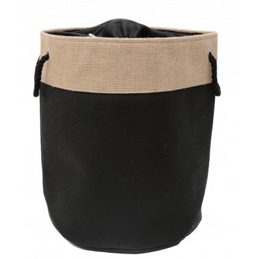 Текстилен кош за дрехи кръг 40x50 см черен HD-(7SM109-A) - Horecano