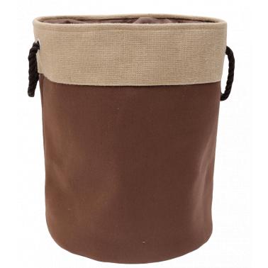 Текстилен кош за дрехи кръг 40x50 см кафяв HD-(7SM109-C) - Horecano