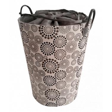 Текстилен кош за дрехи кръг черно/сиво - полиестер HD-(P1SM070A) - Horecano