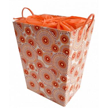 Текстилен кош за дрехи правоъгълен оранжево/червено - полиестер HD-(P1SM026F) - Horecano