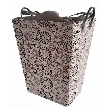 Текстилен кош за дрехи правоъгълен черно/сиво - полиестер HD-(P1SM026A) - Horecano