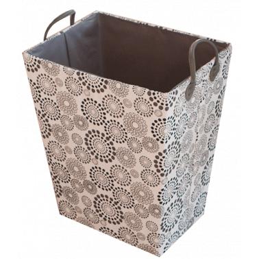 Текстилен кош за дрехи правоъгълен черно/сиво HD-(3SM026A) - Horecano