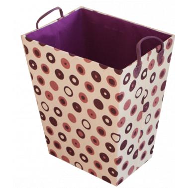Текстилен кош за дрехи правоъгълен розово/лилаво HD-(3SM026В) - Horecano