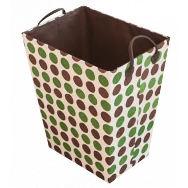 Текстилен кош за дрехи правоъгълен кафяво/зелено HD-(3SM026E) - Horecano