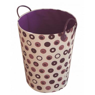Текстилен кош за дрехи кръг HD-(3SM070В) розово/лилаво - Horecano