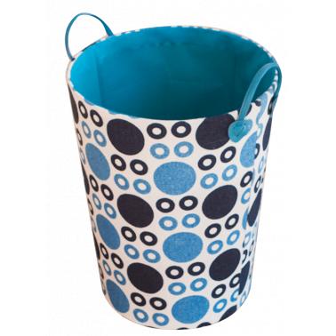 Текстилен кош за дрехи кръгъл HD-(3SM070D) синьо/тъмносиньо - Horecano