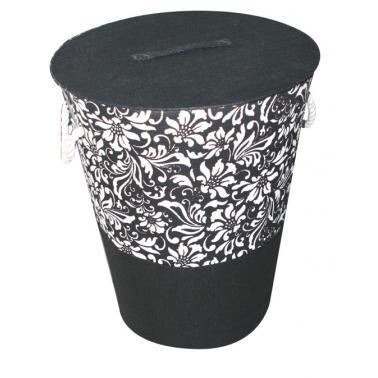 Текстилен кош за пране ф42xh50 черен WH-(WH12-001-1)- Horecano