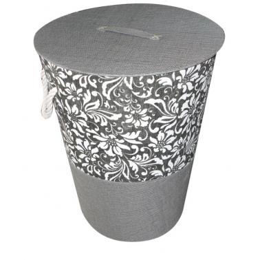 Текстилен кош за пране ф42xh50 сив WH-(WH12-001-2)- Horecano