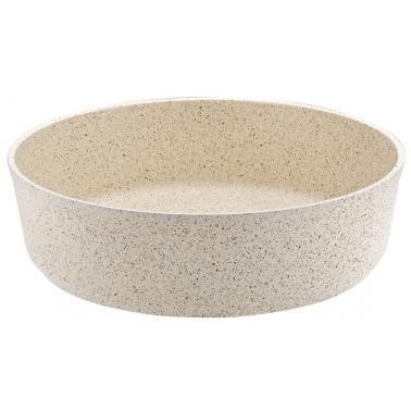 Алуминиева кръгла  дълбока  тава  кремава  30х9см HR-GRANITE(EDMDGR0630001) - Hascevher
