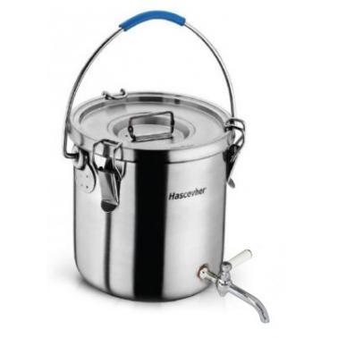 Иноксова бака за пренос на топли напитки с кранче 17л 28x28см HR (3TTCLK1728005/9160.010)  - Hascevher
